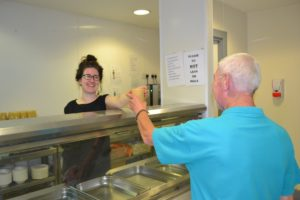 Our MQI kitchen provides weekly meals for clients, headed by our chef and volunteers