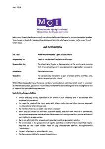 relief project worker job description and person spec april 2018 mqi