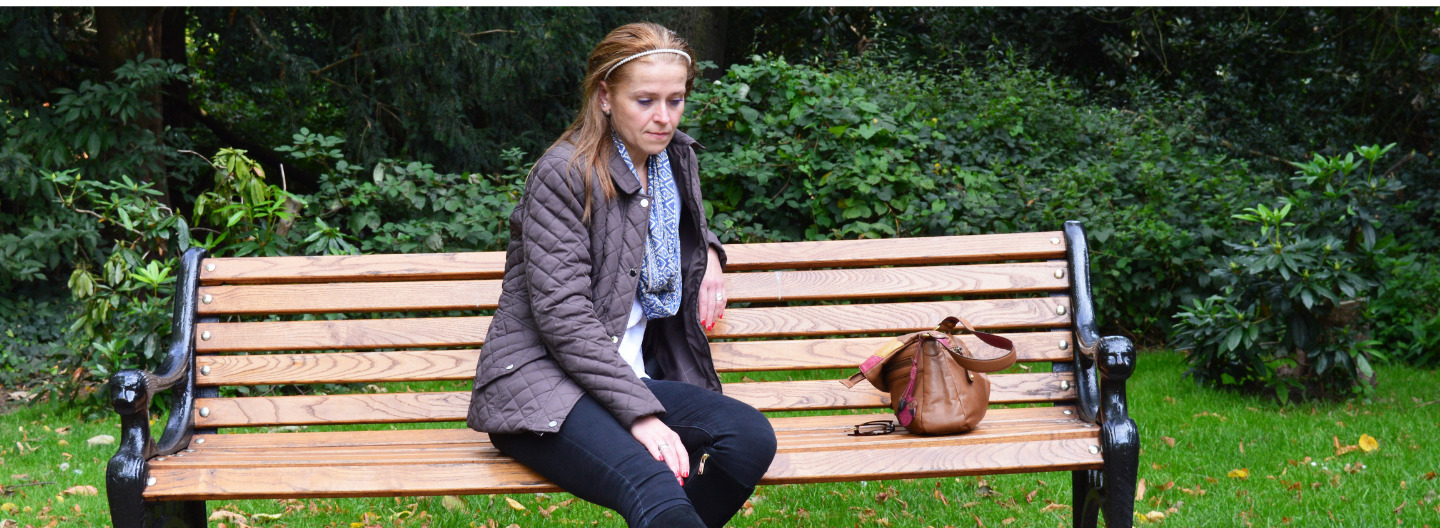 picture of joanne on a bench